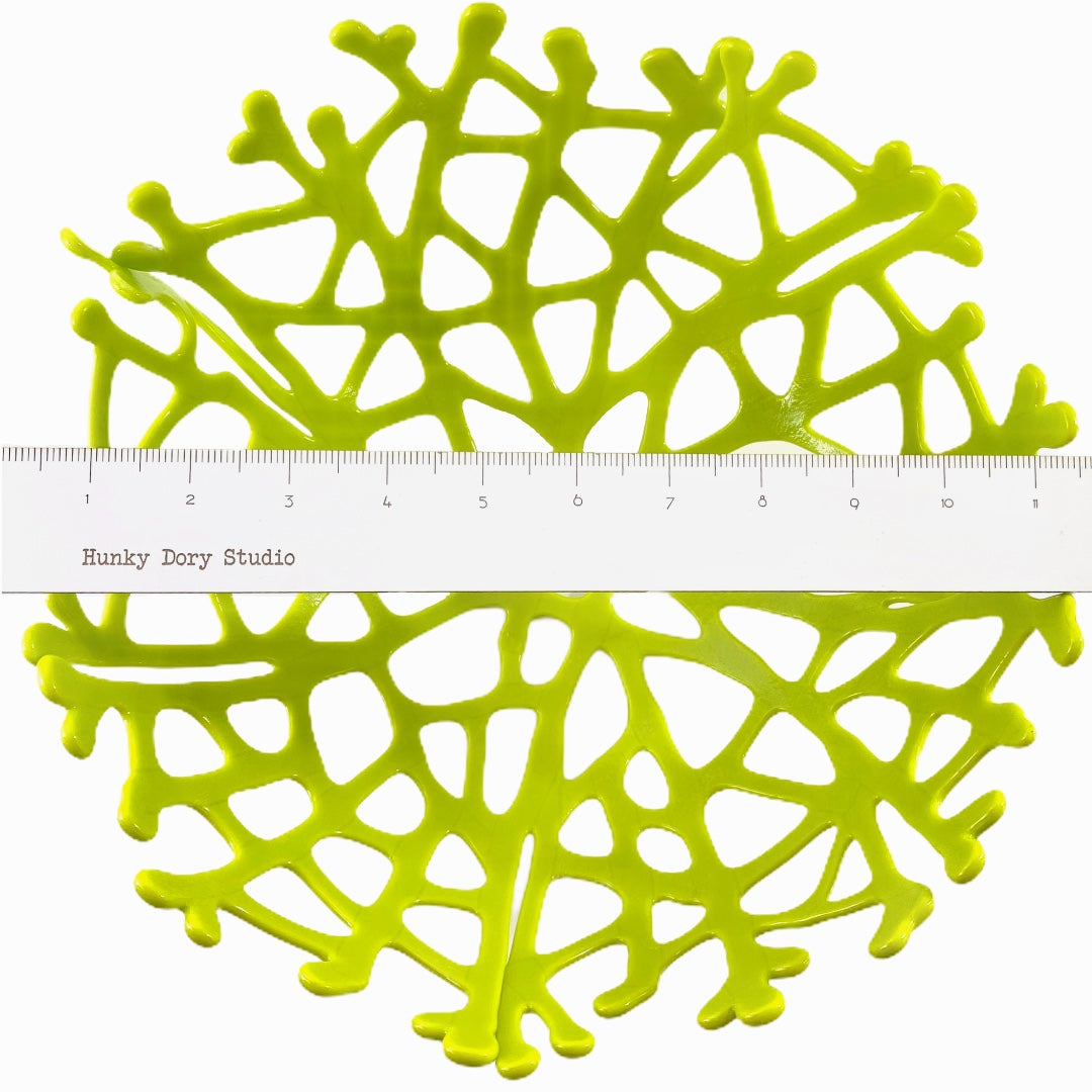 Coral Branch Bowl | Large Opaque Lemongrass Glass
