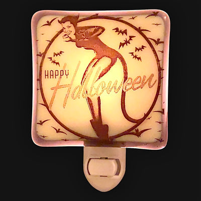 Retro Pin Up Girl Devil Halloween Night Light
