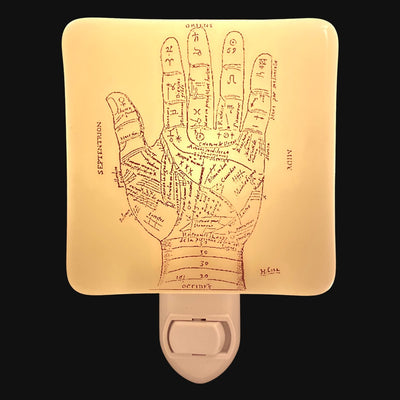 Palmistry Diagram Illustration Night Light