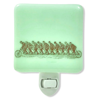 Victorian Bicycle Sketch Ten Riders Night Light