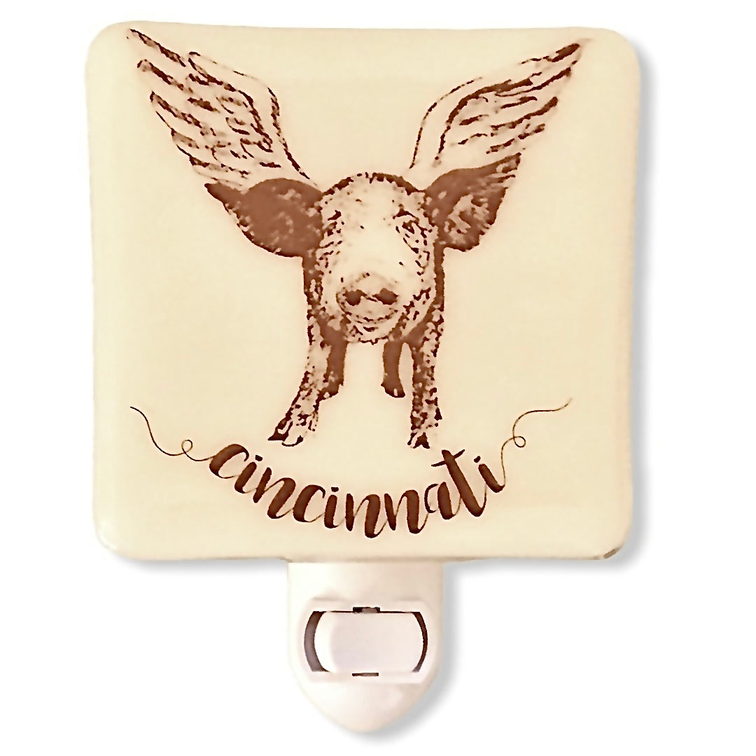Cincinnati Ohio - Flying Pig  Night Light