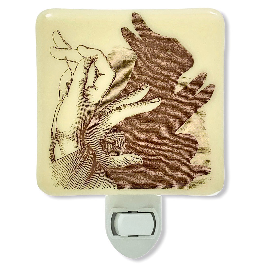 Rabbit Shadow Puppet Night Light