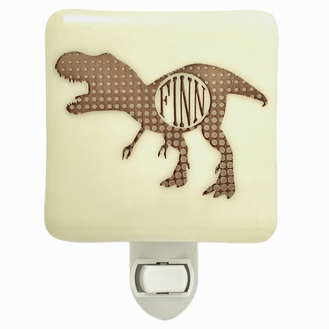 PERSONALIZED Dinosaur Night Light with Name or Initials