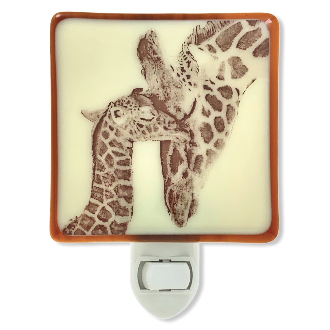 Giraffe Mom and Baby Night Light