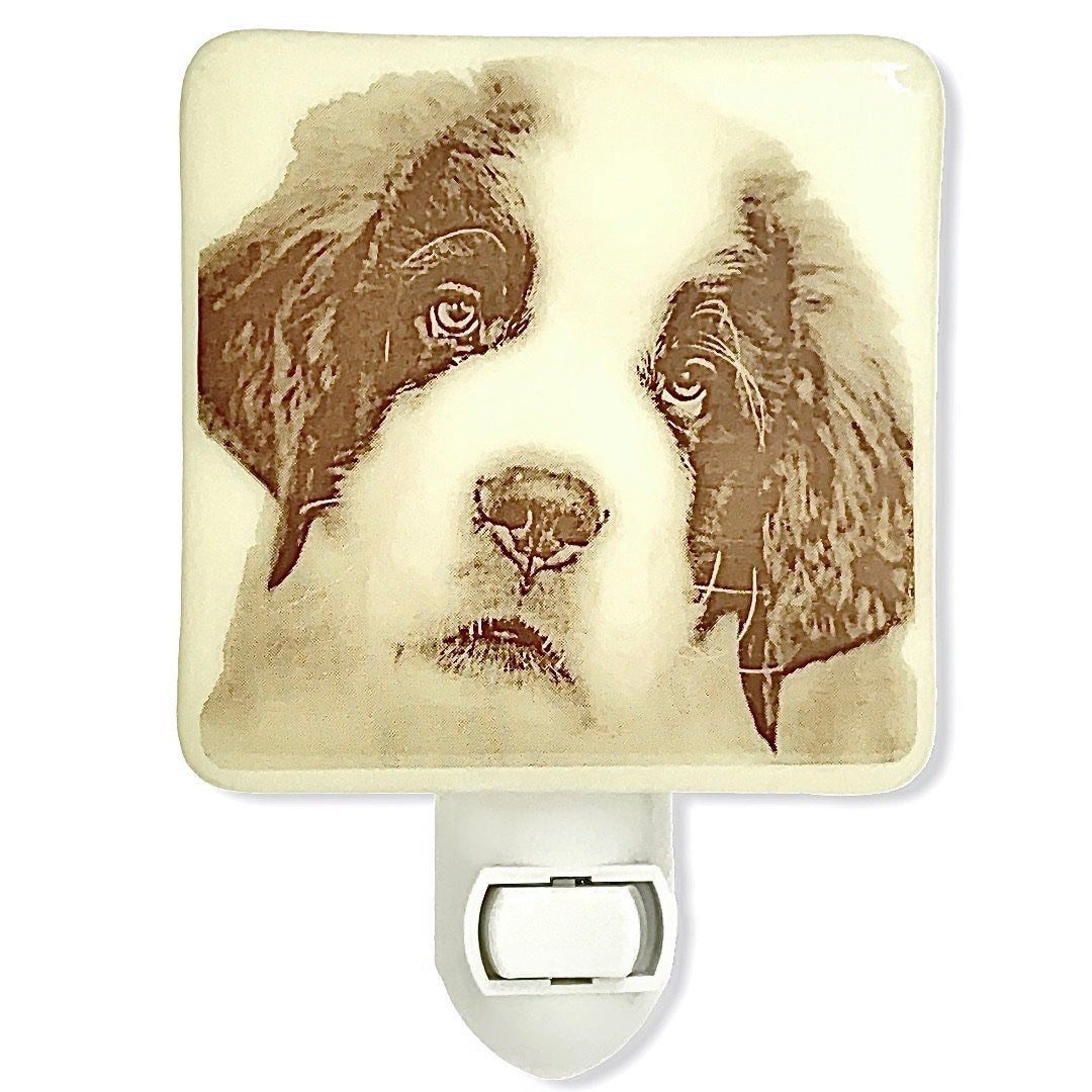 Saint Bernard Dog Night Light