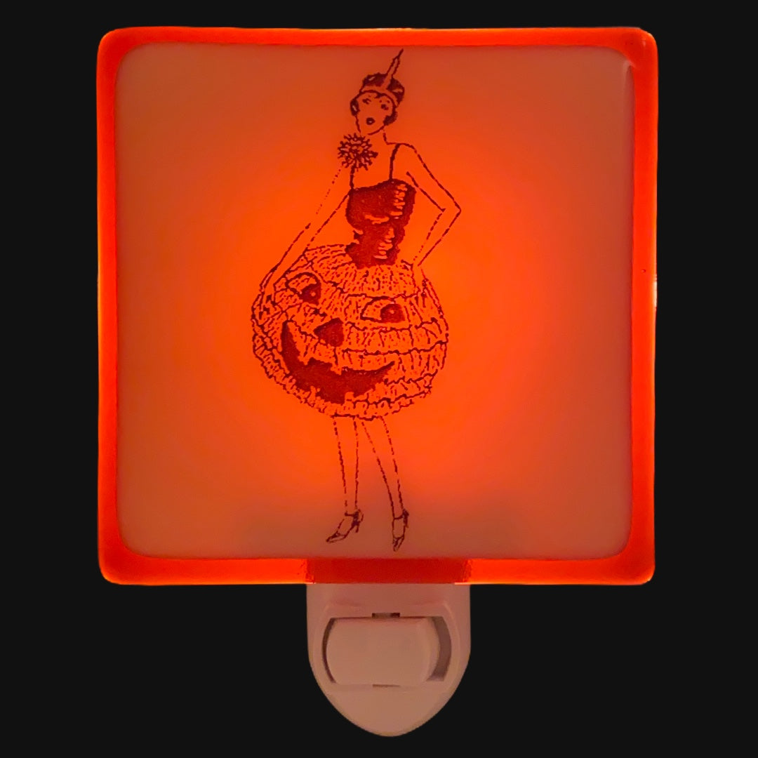 Halloween Vintage Jack O'Lantern Dress Costume Night Light