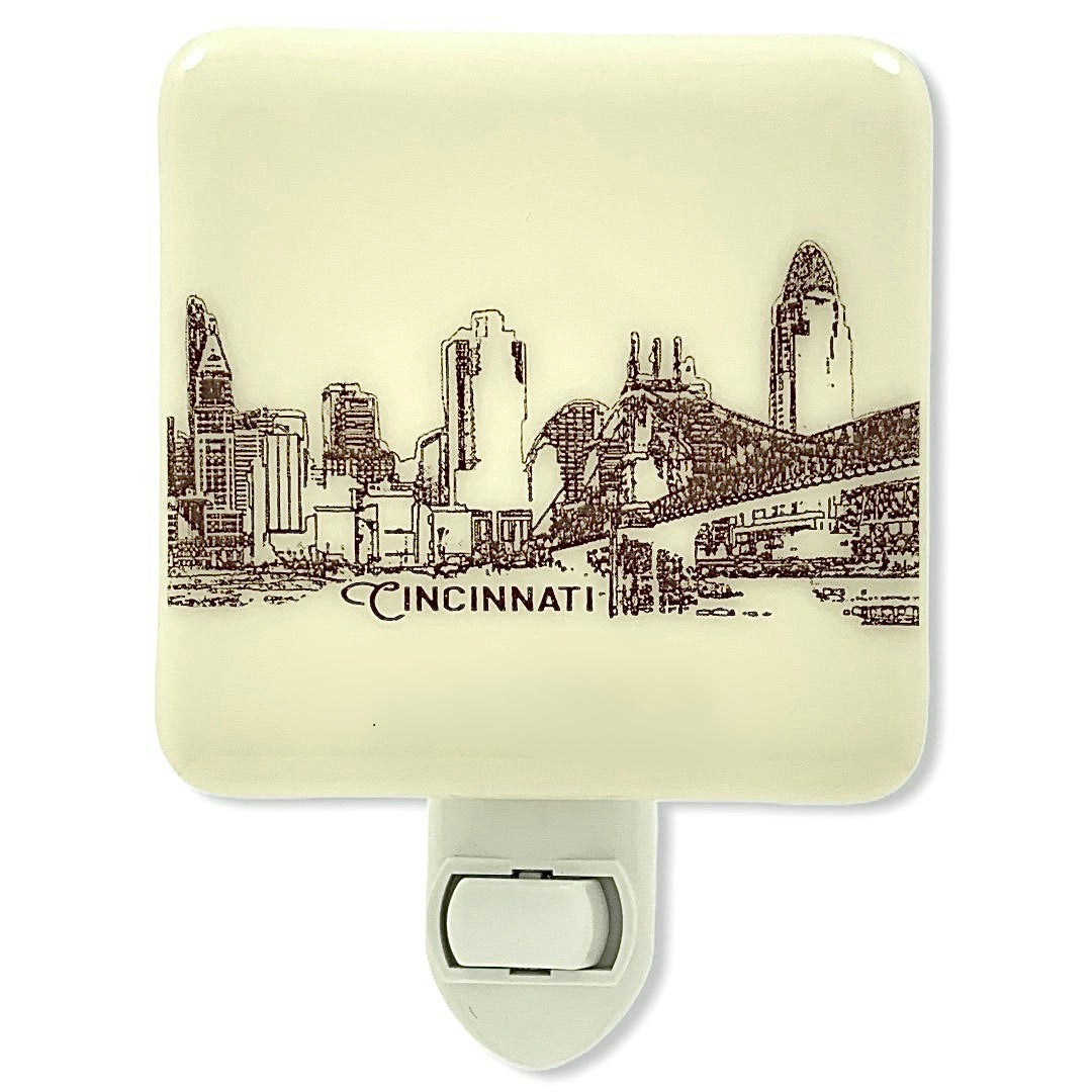 Cincinnati Ohio Skyline Night Light