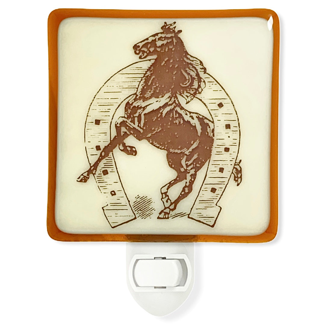 Vintage Horse and Horse Shoe Night Light