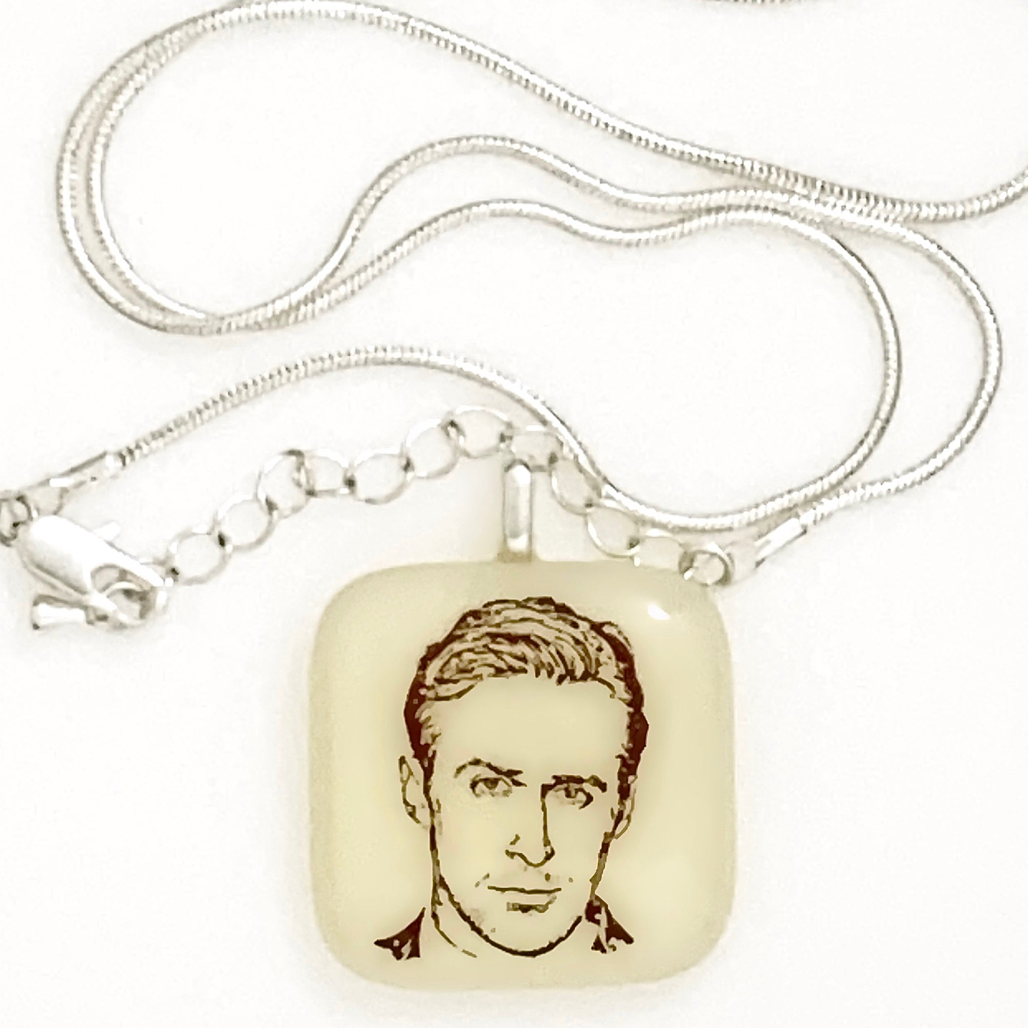 Ryan Gosling Necklace Fused Glass
