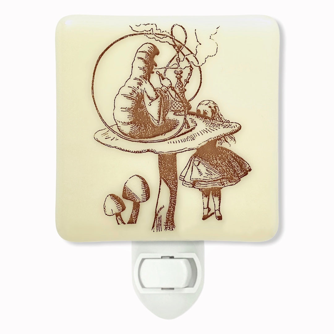 Alice in Wonderland Caterpillar and Hookah  Night Light