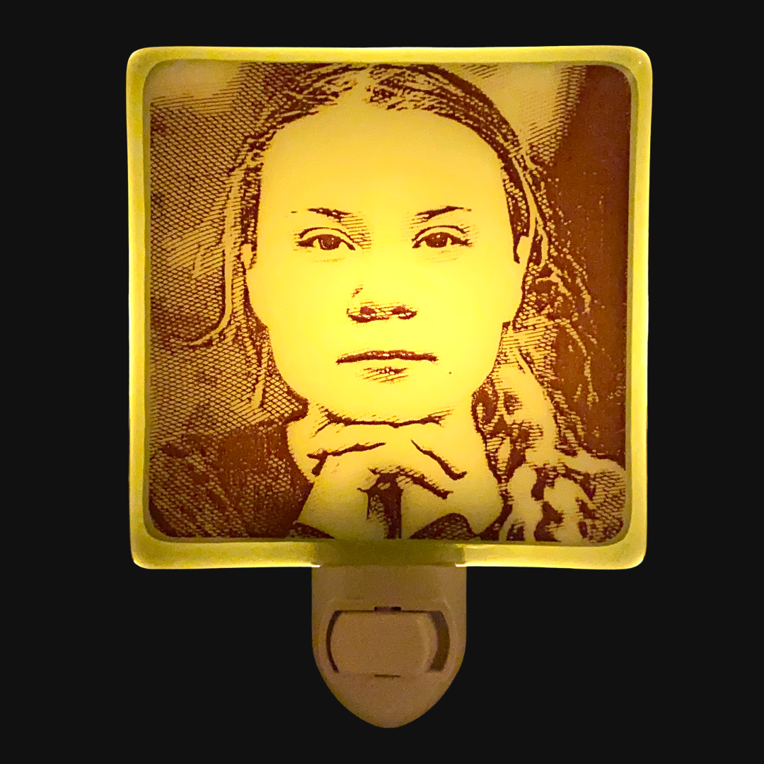 Greta Thunberg Night Light
