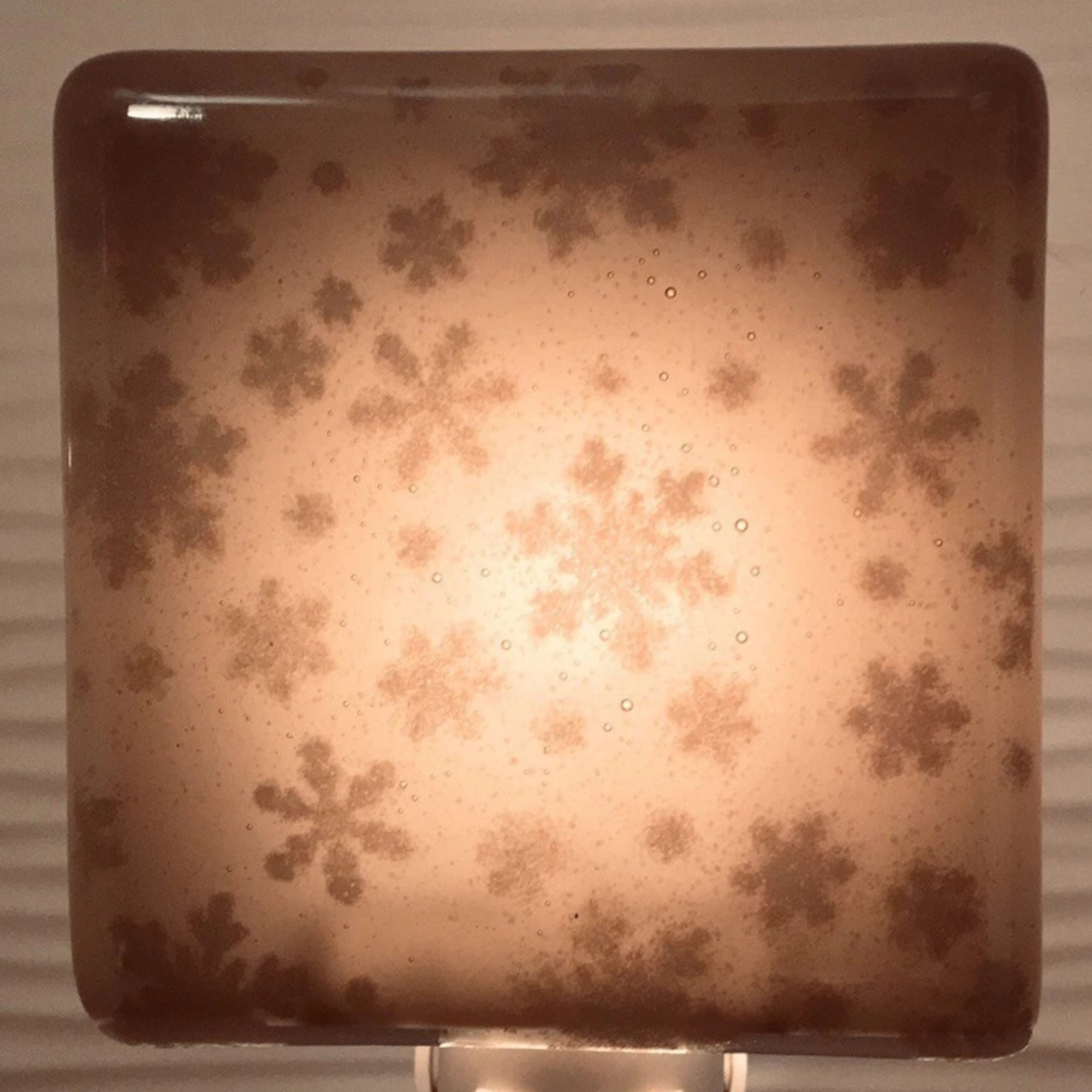 Snowflakes Small Night Light - Gray Glass