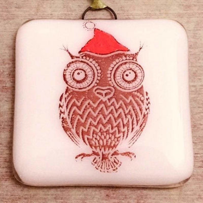 Owl Christmas Ornament - Hand Painted