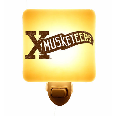 Xavier University - Musketeers Pennant Logo Giftware - Ivory Glass