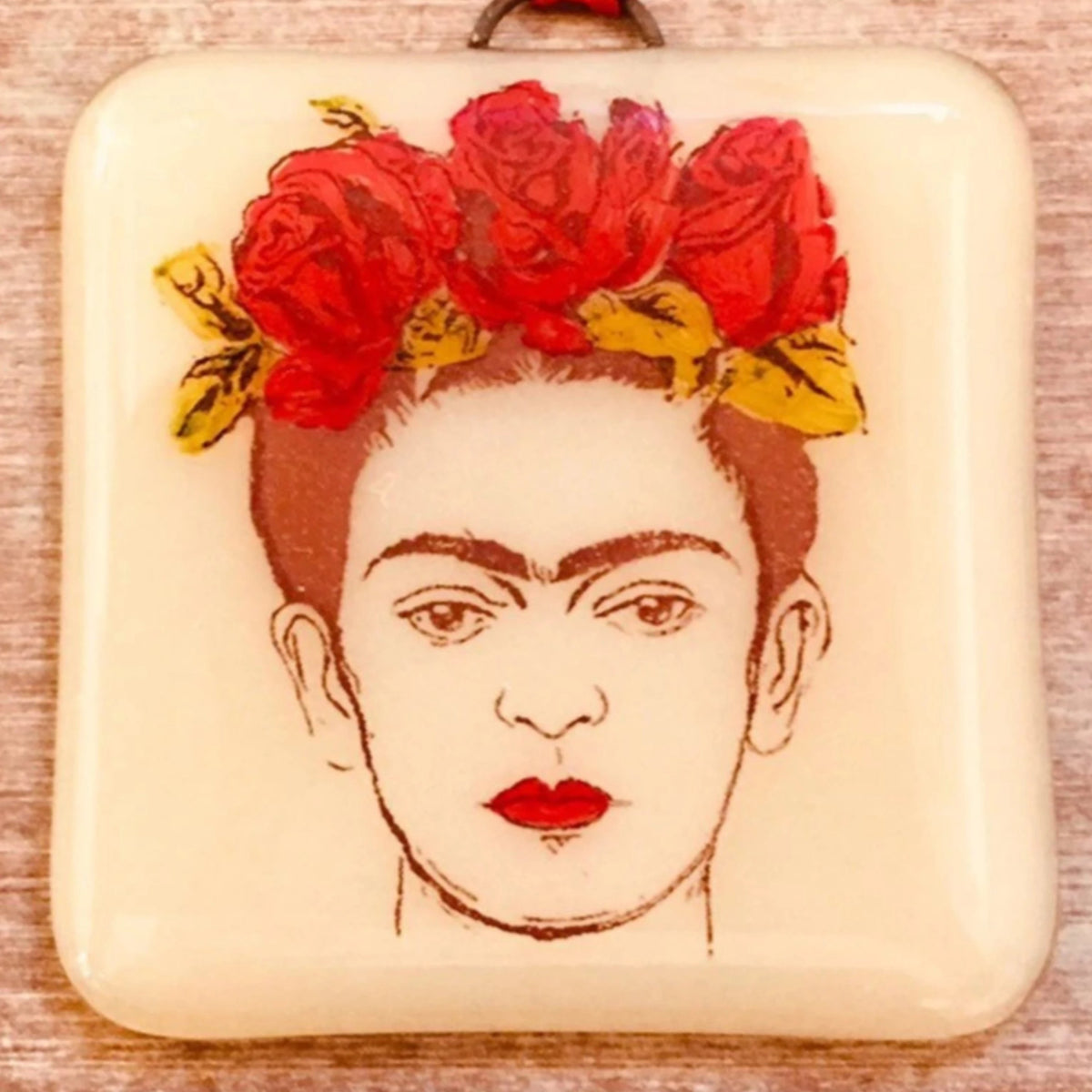 Frida Kahlo Ornament - Hand Painted
