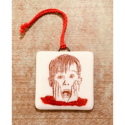 Home Alone - Kevin McCallister - Macaulay Culkin Ornament - Hand Painted