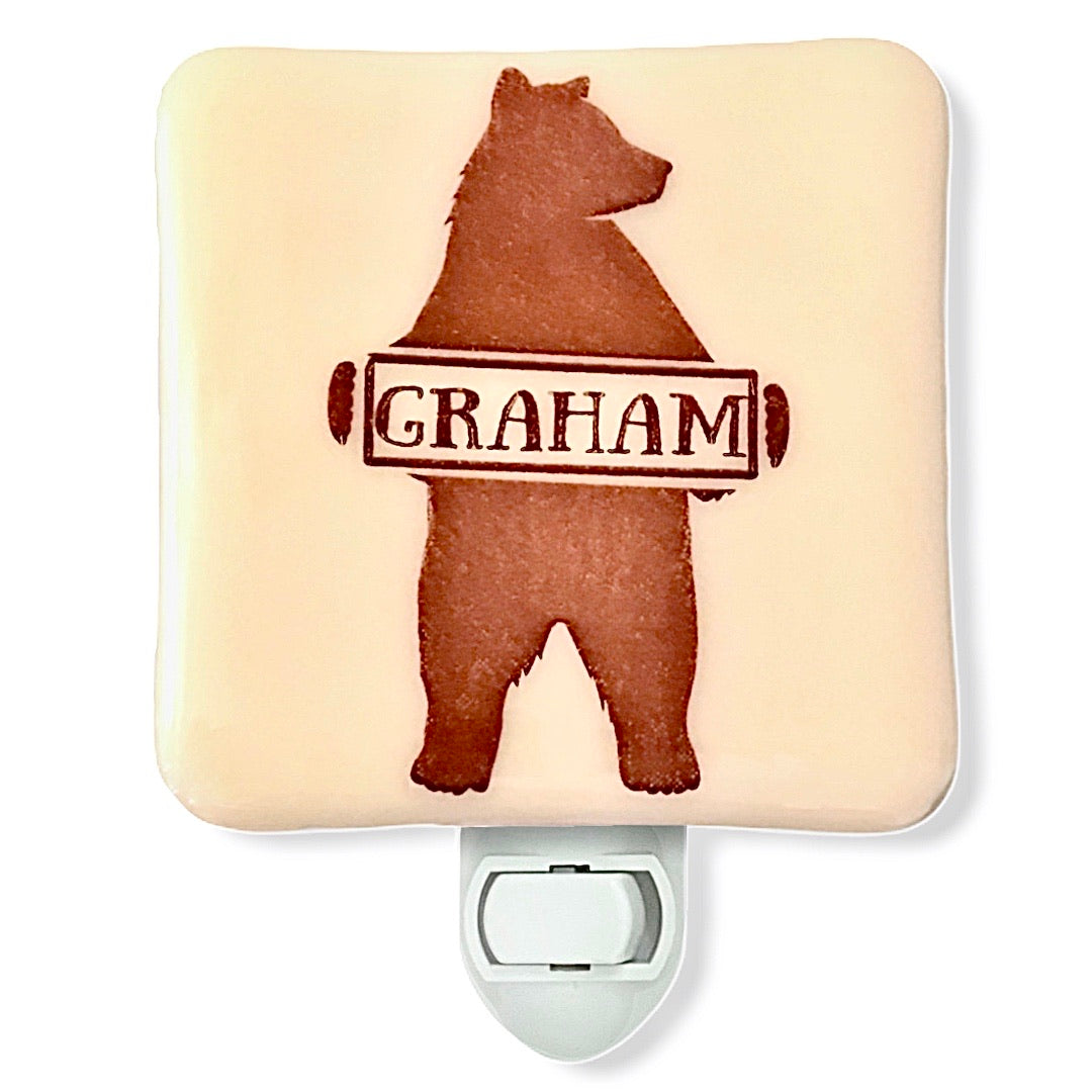 PERSONALIZED Bear with Name Night Light