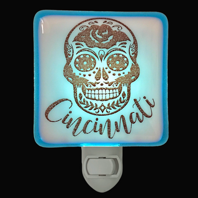 Cincinnati Ohio - Sugar Skull Night Light