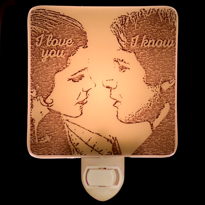 "Star Wars - Leia  and Han ""I Love You..."" Night Light"