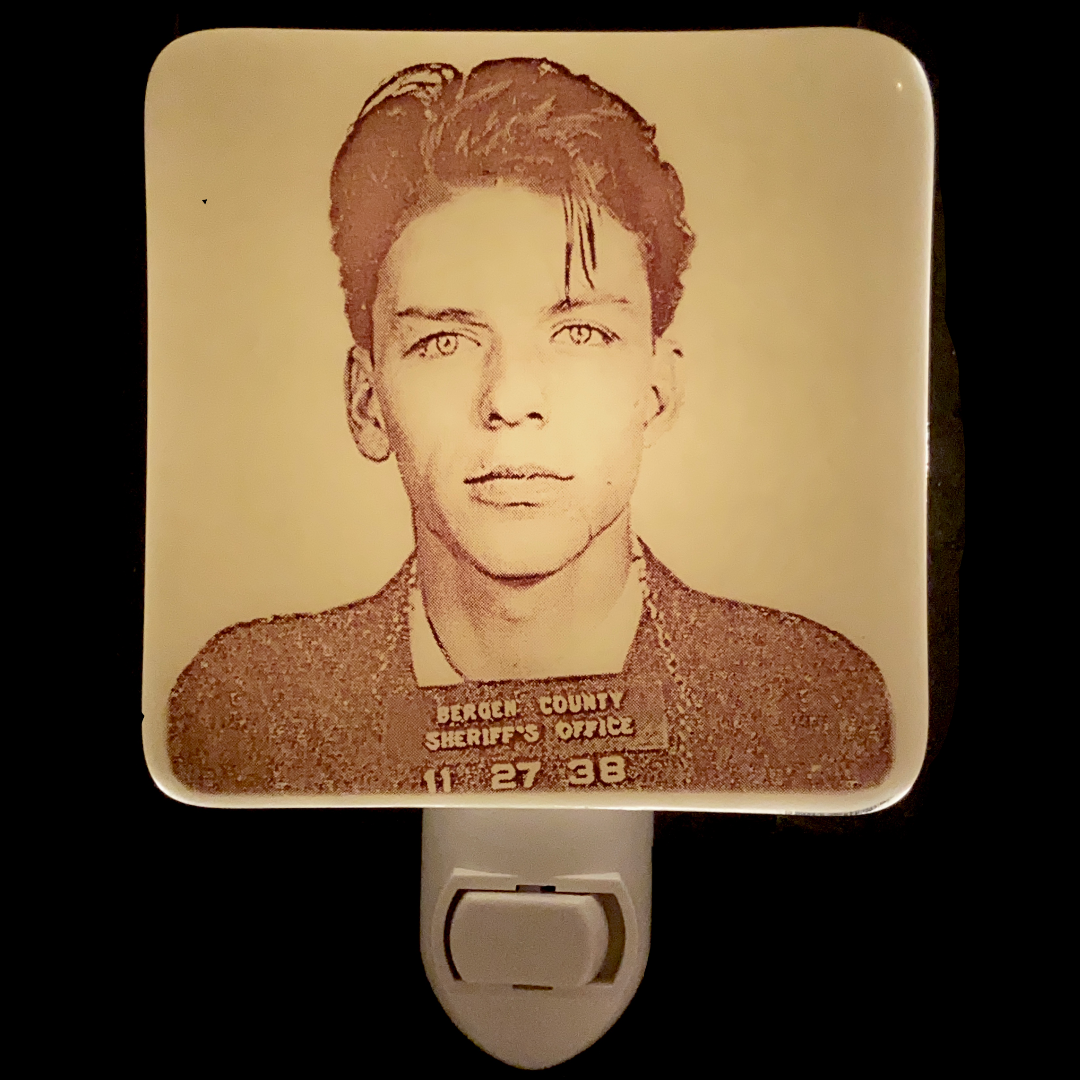 Frank Sinatra Mug Shot Night Light Fused Glass