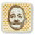 Tiny Bill Murray Glass Dishlette with Orange Polka Dots