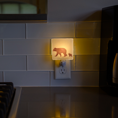 Mama Bear with Cub Night Light