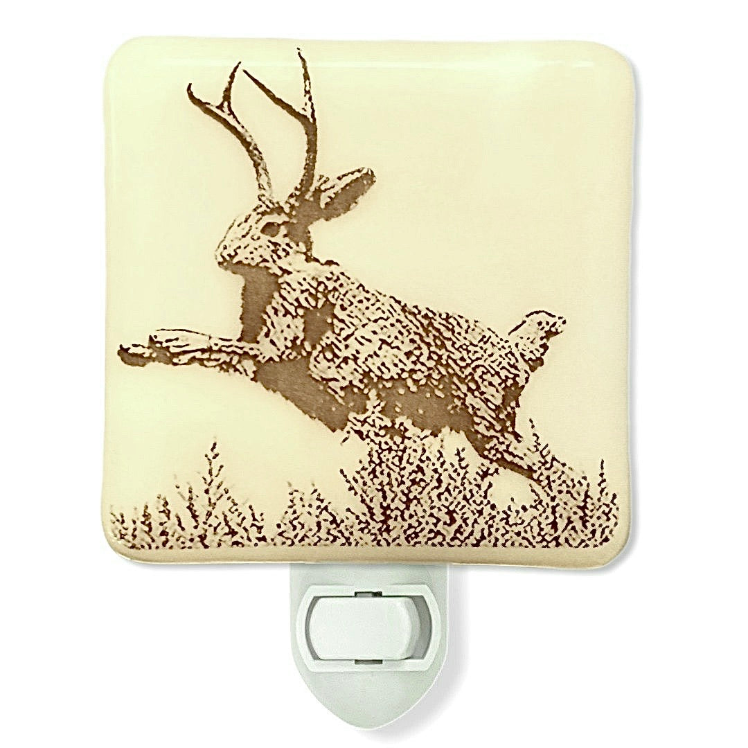 Jackalope Vintage Post Card Night Light