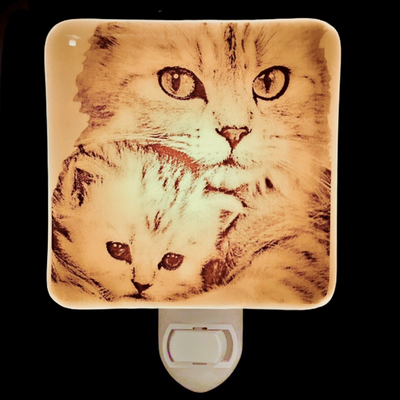 Cat Mom and Kitten Night Light