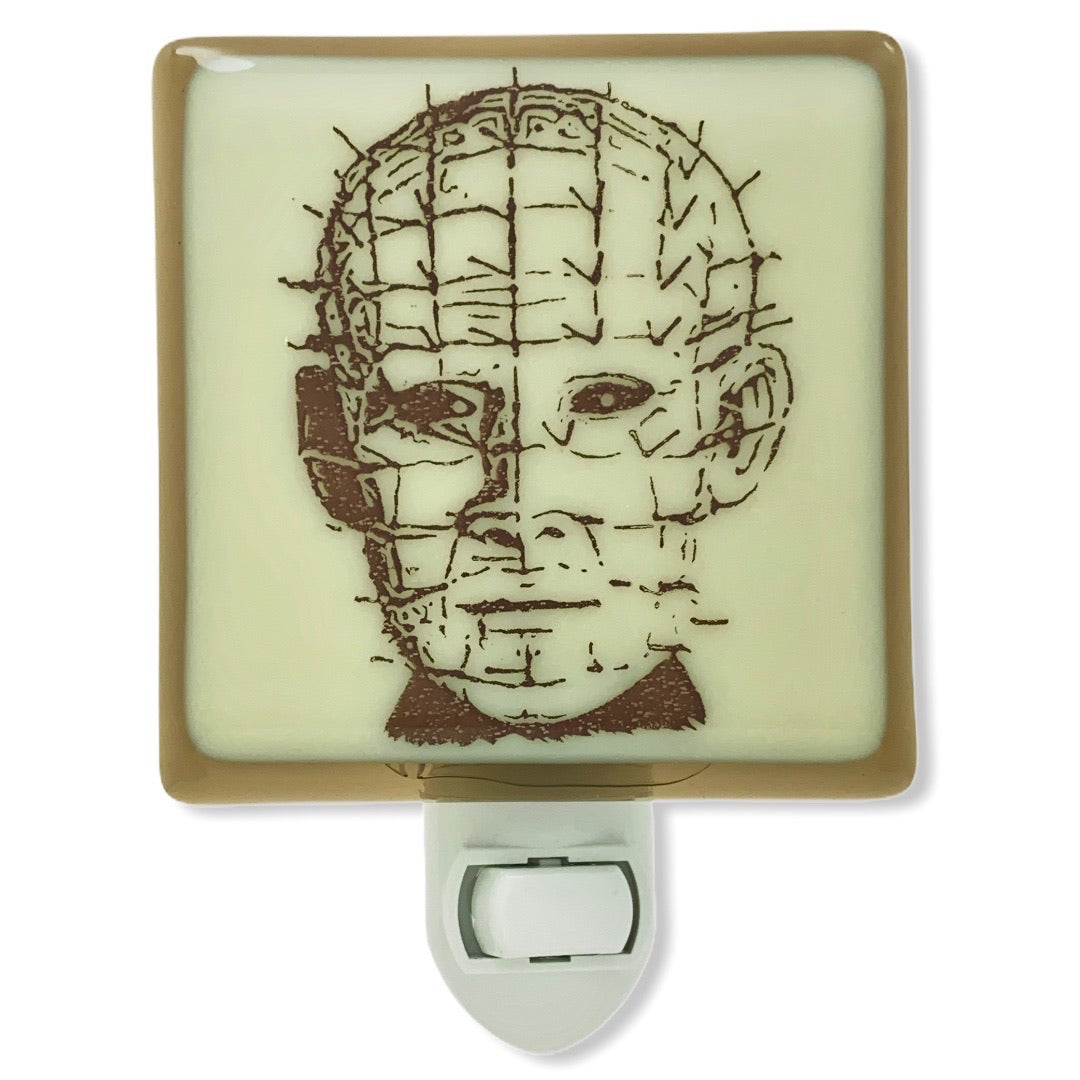 Hell raiser - Pinhead Night Light - Bronze/Ivory Glass