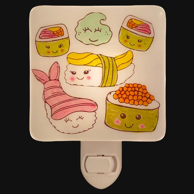 Cute Smiling Sushi Night Light - Hand Painted