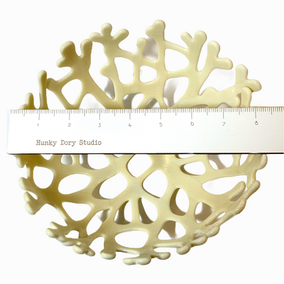 Coral Branch Bowl | Medium Ivory Opaque Glass