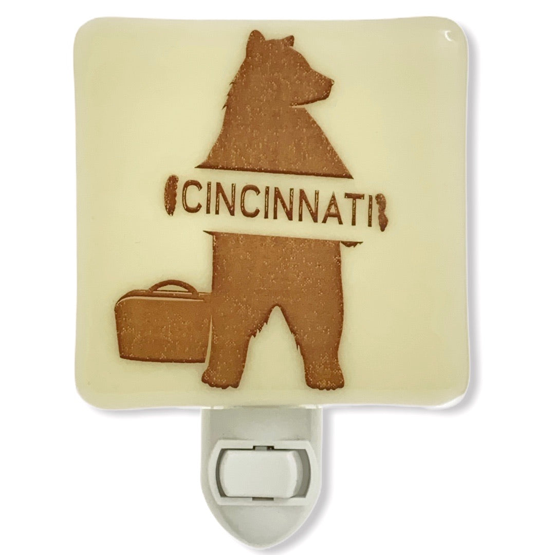 Cincinnati Ohio - Hitchhiking Bear Night Light
