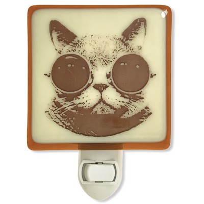 Cat With Goggles Steampunk Night Light