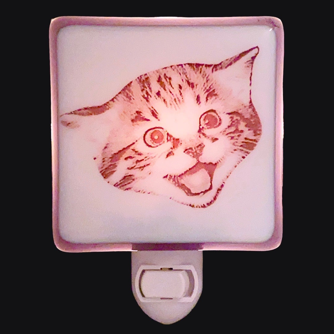 Happy Smiling Cat Night Light