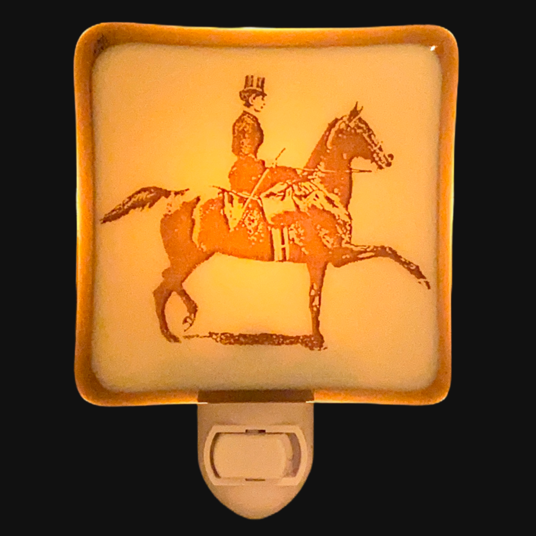 Horse and Rider Lady Equestrian Night Light