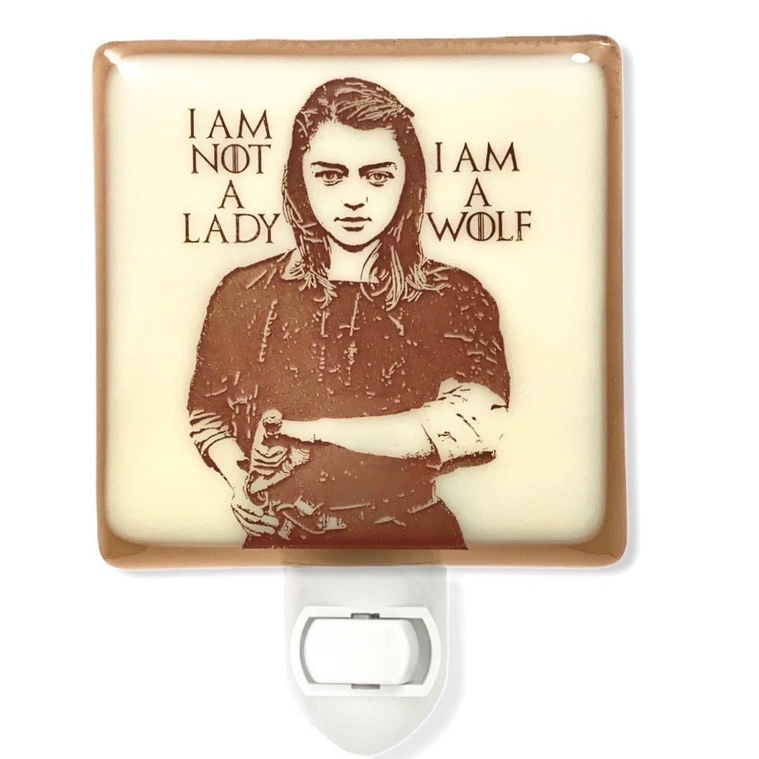 "Game of Thrones - Arya Stark Night Light ""I Am No Lady"""