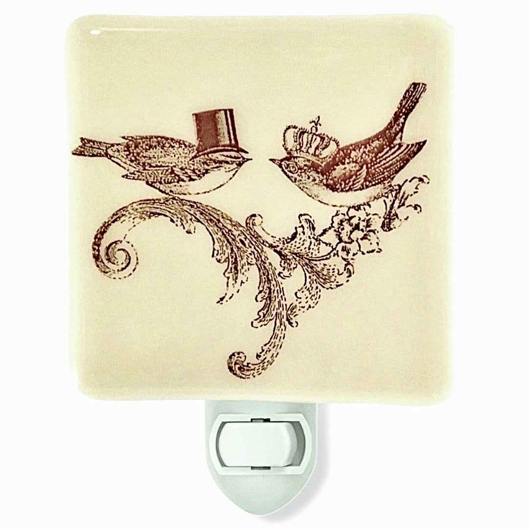 Bride and Groom Birds Wedding Night Light