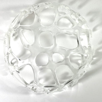 Coral Branch Bowl | Medium Clear Glass