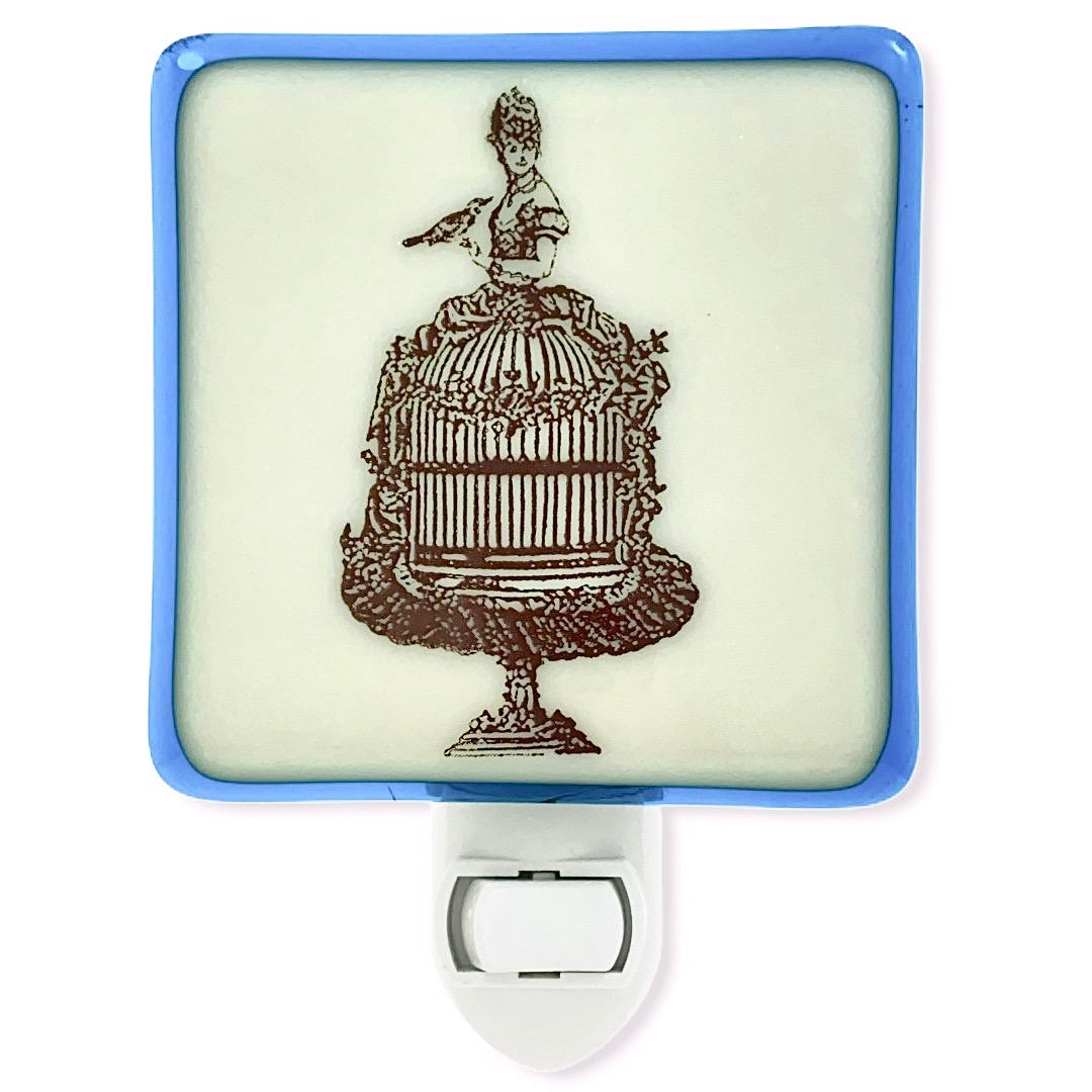 Victorian Lady with Bird Cage Dress Night Light