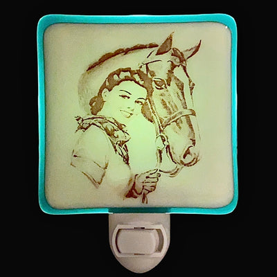 Vintage Horse and Girl Night Light