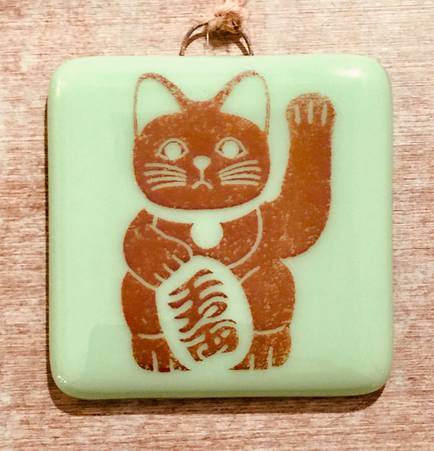 Lucky Cat   Maneki Neko Ornament