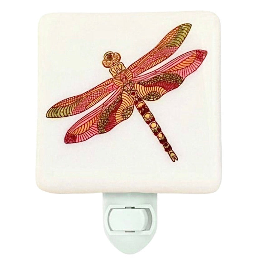 Dragonfly Night Light - Hand Painted
