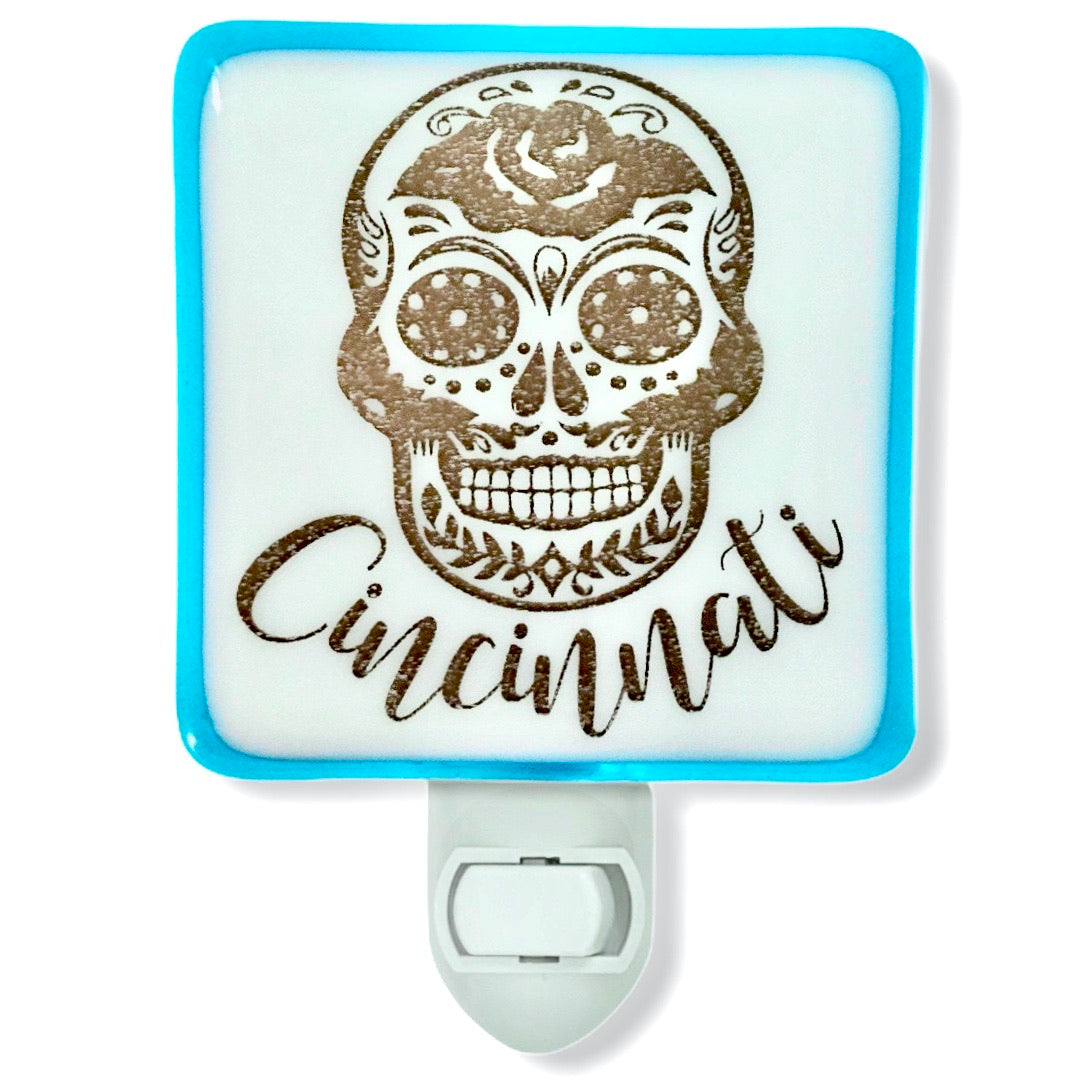 PERSONALIZED Sugar Skull with Your Name or City Night Light