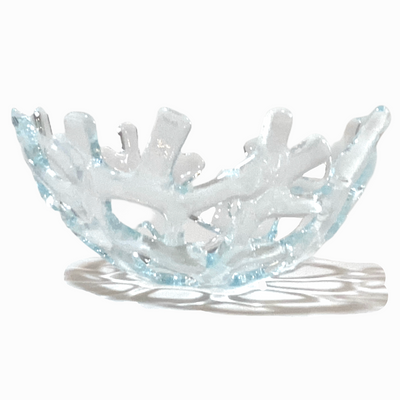 Coral Branch Bowl | Small Clear Glass