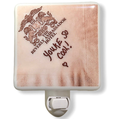 "True Romance Cocktail Napkin ""You're So Cool"" Night Light"