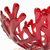 Coral Branch Bowl | Medium Red Glass
