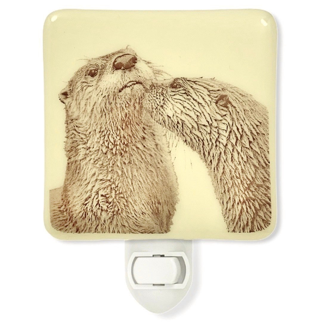 Otters Kissing Night Light