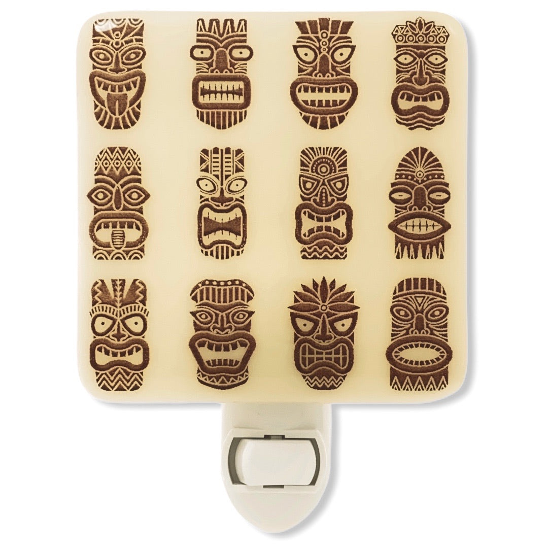 Tiki Pattern Night Light