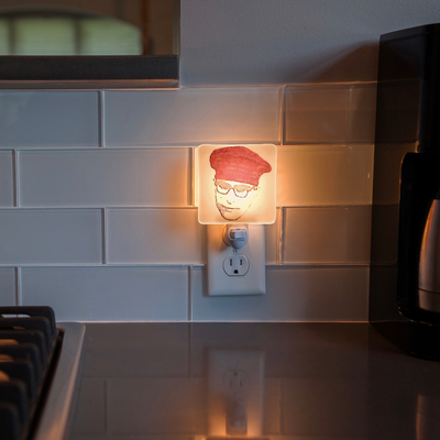 Rushmore - Max Fischer with Red Beret Night Light - Hand Painted