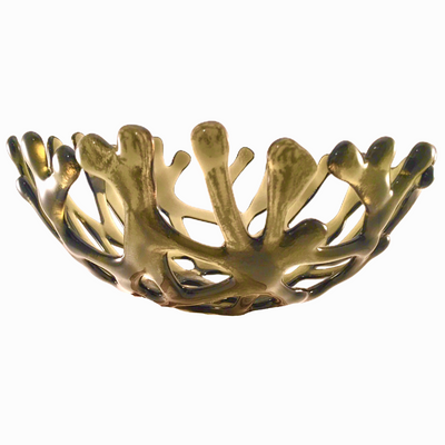Coral Branch Bowl | Medium Moss Green Glass